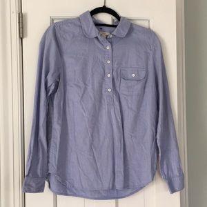 J. Crew 100% cotton collared shirt